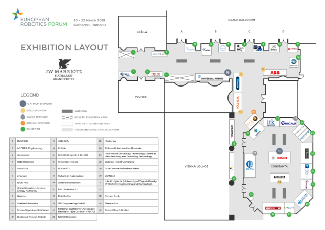 ERF2019 exhibition layout