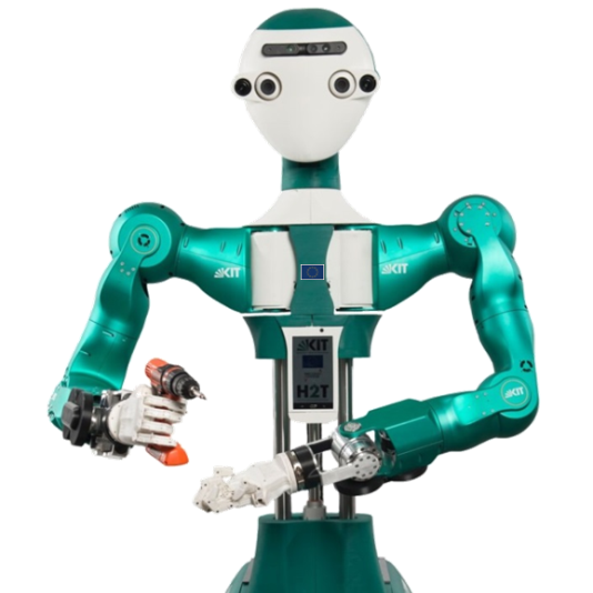 ARMAR-6 is a collaborative humanoid robot assistant for industrial environments.